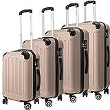 KESSER 4tlg. Reisekoffer Hartschalenkofferset Hard Shell Basic Hartschalenkoffer Trolley Koffer...