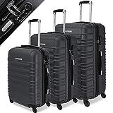 KESSER® 3tlg. Hartschalenkofferset Hard Shell Basic Hartschalenkoffer Trolley Koffer Reisekoffer...